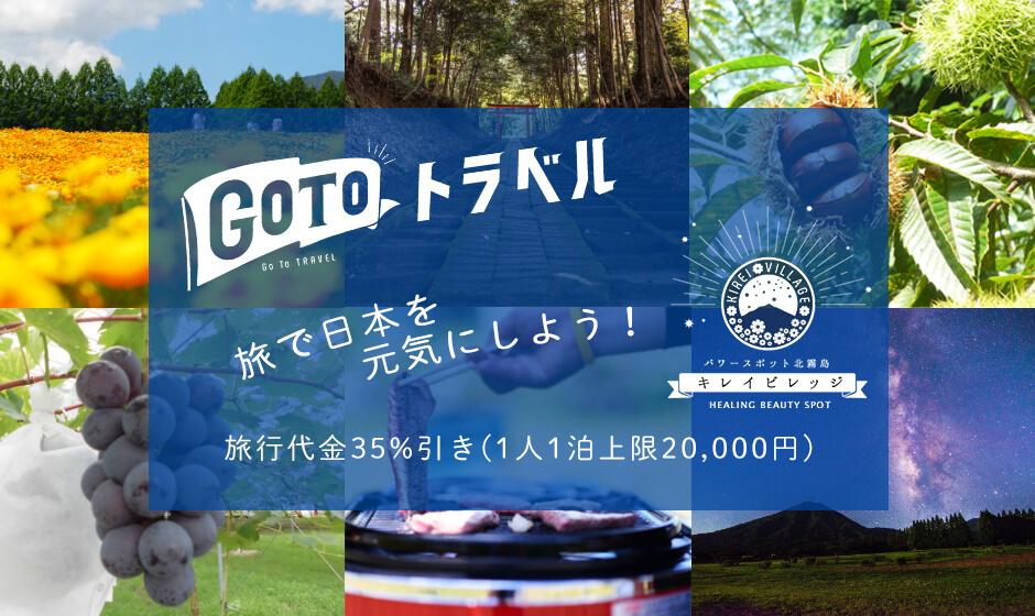 GoToトラベル 旅で日本を元気にしよう 旅行代金35%引き(1人1泊上限25000円)