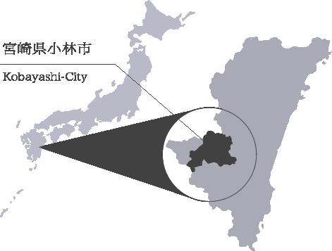宮崎県小林市地図